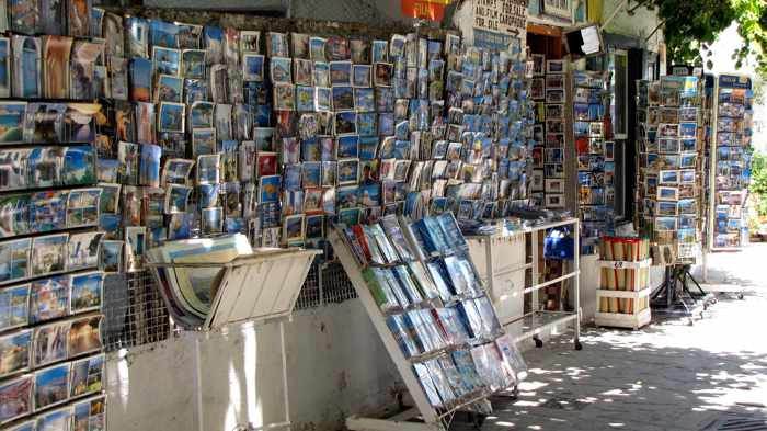 Kokkari postcard shop