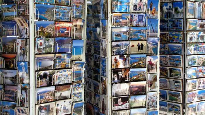 Kokkari postcard shop