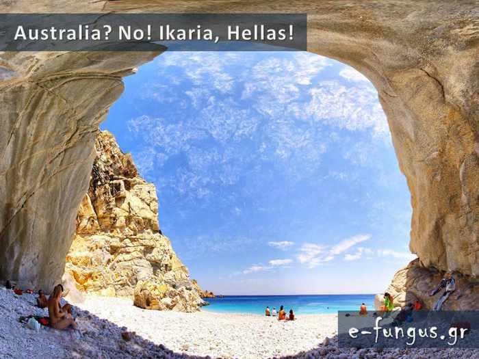 Ikaria beach scene