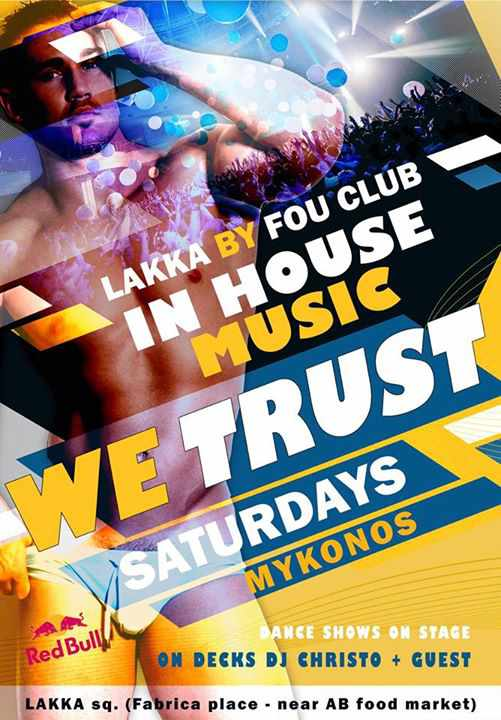In House Music We Trust Party at Lakka by Fou Club