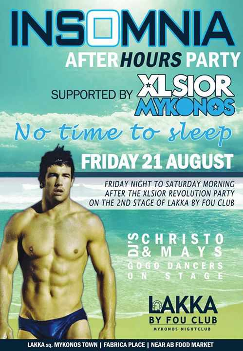Insomnia After Hours Party at Lakka by Fou Club