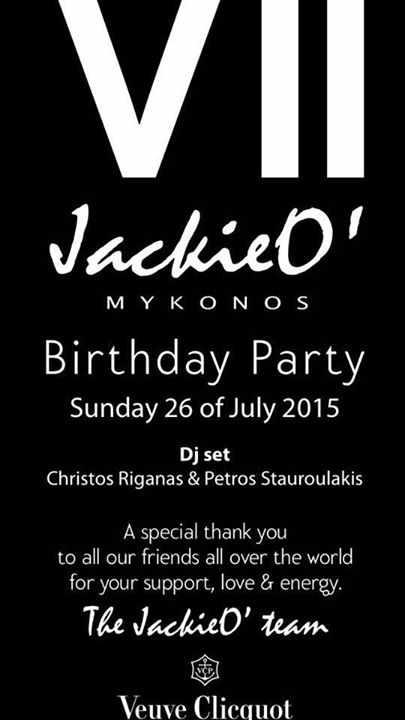 Jackie O Mykonos 7th birthday party