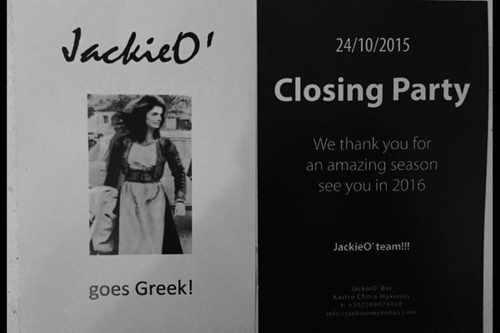 JackieO' Bar Mykonos Town closing party 2015