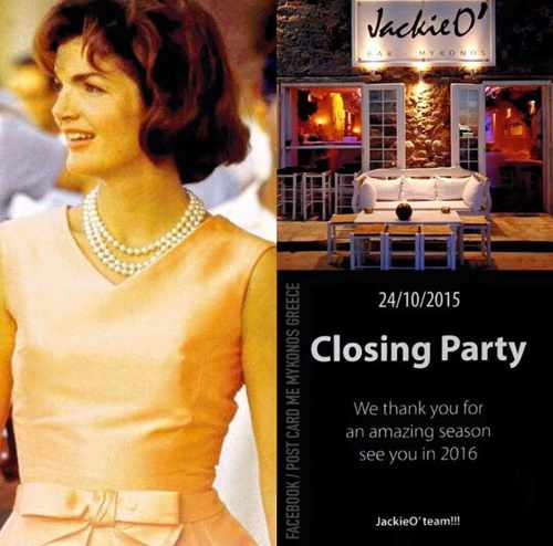 JackieO' Bar Mykonos Town season closing party 2015