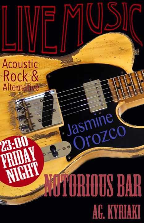 Jasmine Orozco appearing at Notorious Bar Mykonos June 19 2015