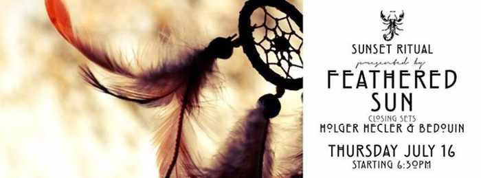 July 16 2015 Feathered Sun Ritual at Scorpios Mykonos