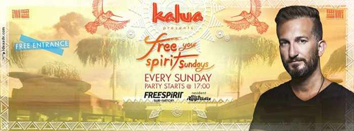 Kalua restaurant and bar Mykonos Freespirit Sunday parties