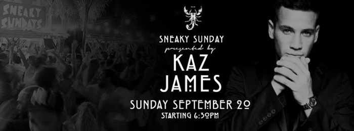 Kaz James at Scorpios September 20 2015