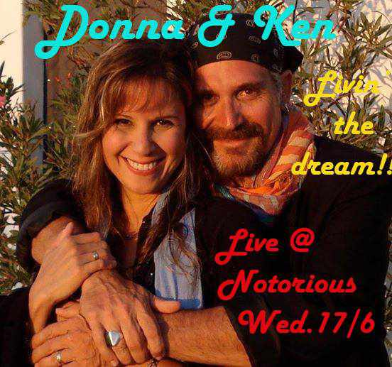 Ken Richards and Donna Harris appearing at Notorious Cafe Bar Mykonos on June 17 2015