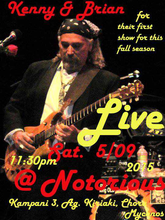 Kenny & Brian live rock show at Notorious Bar