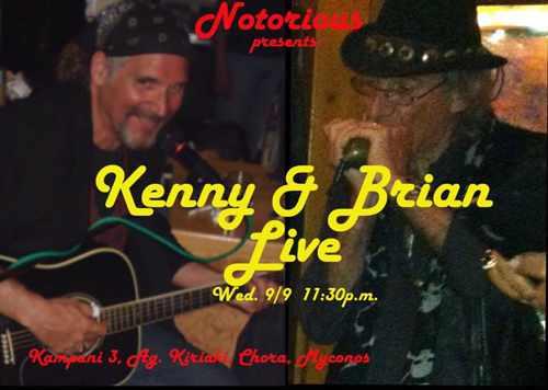 Kenny & Brian performing live at Notorious Bar Mykonos