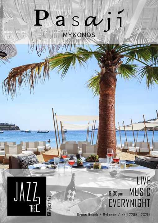 Live Jazz Music with Jazz the 2 at Pasaji Mykonos summer 2015