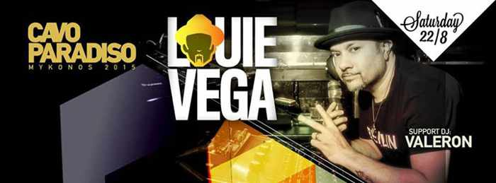 Louie Vega and Valeron spinning at Cavo Paradiso
