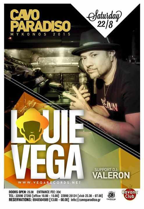 Louie Vega at Cavo Paradiso Mykonos