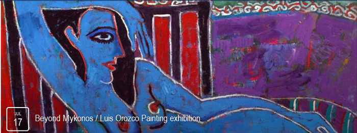 Luis Orozco painting exhibition Mykonos 2015