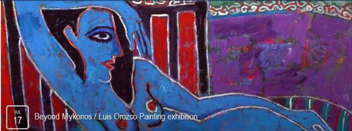 Luis Orozco painting exhibition Mykonos 2015