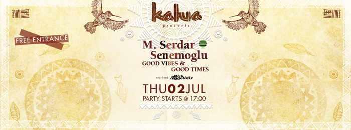 M Serdar Senemoglu at Kalua bar Mykonos July 2 2015