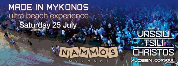 Made in Mykonos beach party