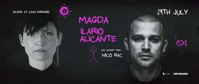 Magda and Ilario Alicante appearing at Cavo Paradiso Mykonos July 29