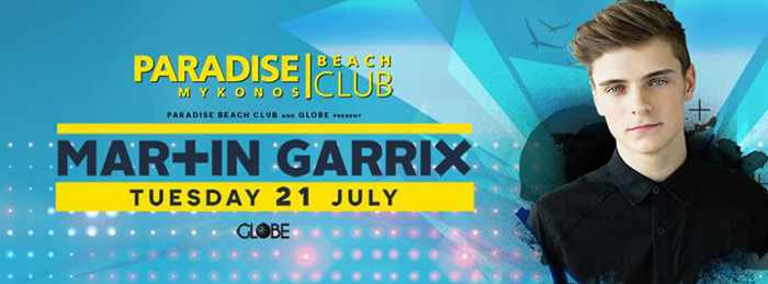 Mar+tin Garrix appears at Paradise Beach Club Mykonos July 21 2015