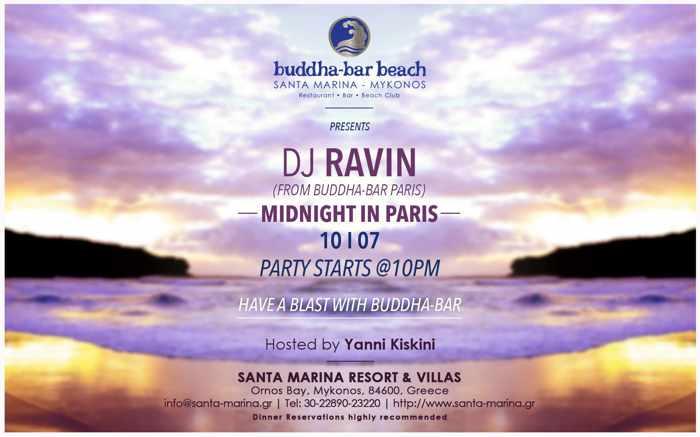 Midnight in Paris party July 10 2015 at Buddha-Bar Beach Mykonos