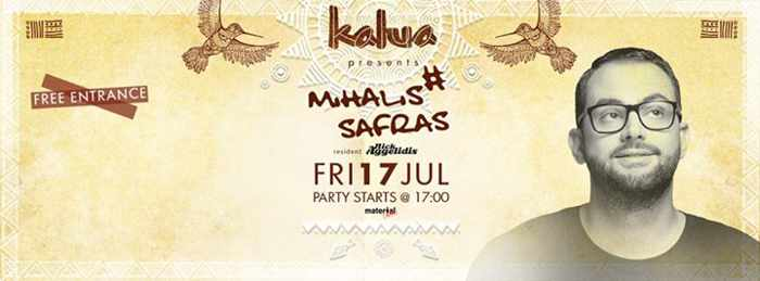 Mihalis Safras at Kalua bar Mykonos July 17 2015