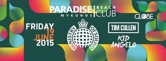 Ministry of Sound at Paradise Beach Club Mykonos June 19 2015