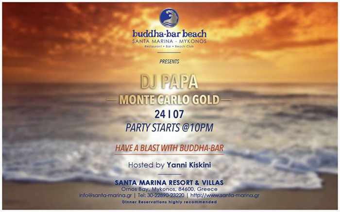 Monte Carlo Gold party at Buddha-Bar Beach