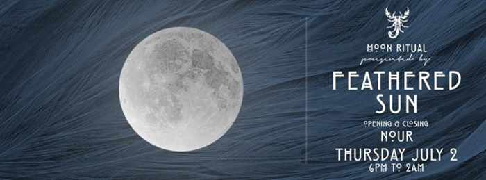 Moon ritual July 2 2015 at Scorpios beach club Mykonos