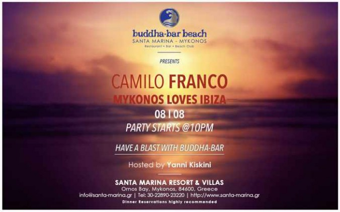 Mykonos Loves Ibiza party at Buddha-Bar Beach Mykonos