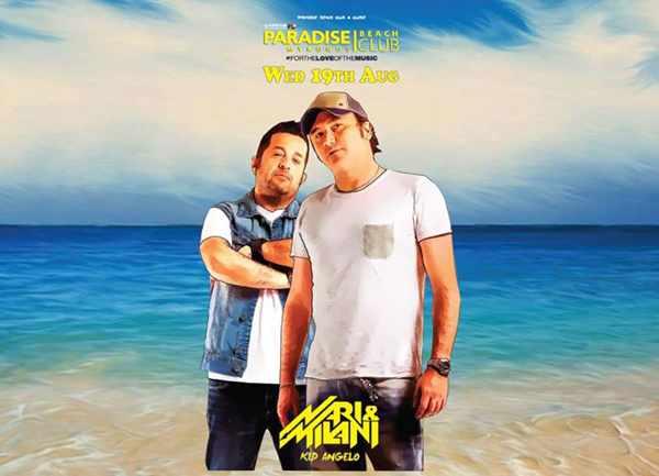 Nari & Milani at Paradise beach club Mykonos