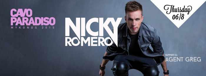 Nicky Romero at Cavo Paradiso with Agent Greg