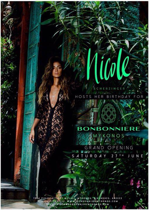 Nicole Scherzinger birthday party at Bonbonniere Mykonos June 27 2015