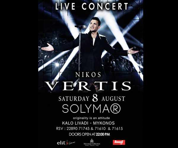 Nikos Vertis live concert at Solymar