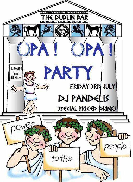 The Dublin Bar Mykonos Opa party