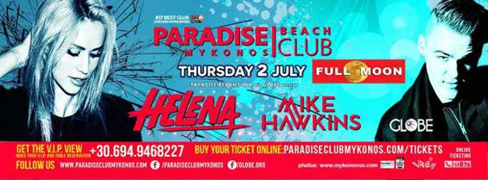 Paradise Beach Club Mykonos July 2 2015 full moon party