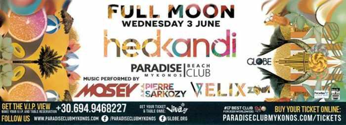 Paradise Beach Club full moon party June 3 2015
