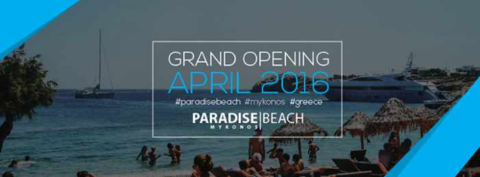 Paradise Beach Mykonos 2016 promotional image
