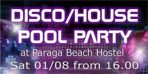 Paraga Beach Hostel & Camping Mykonos Disco pool party