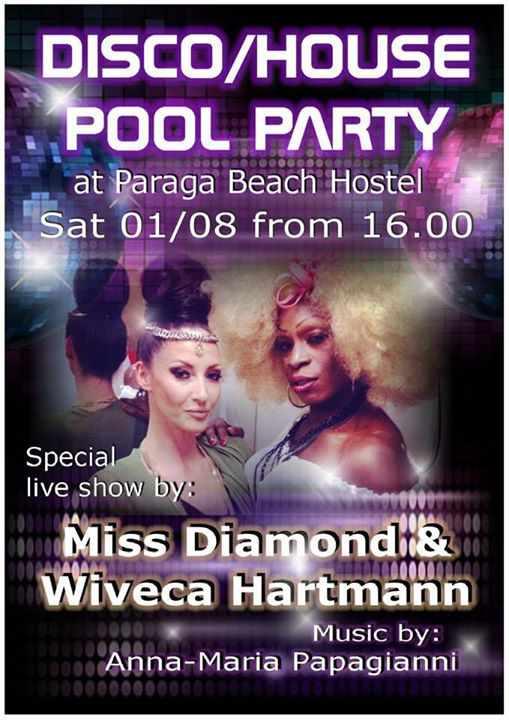 Paraga Beach Hostel Mykonos pool party