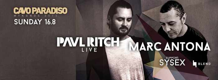Paul Ritch and Marc Antona at Cavo Paradiso