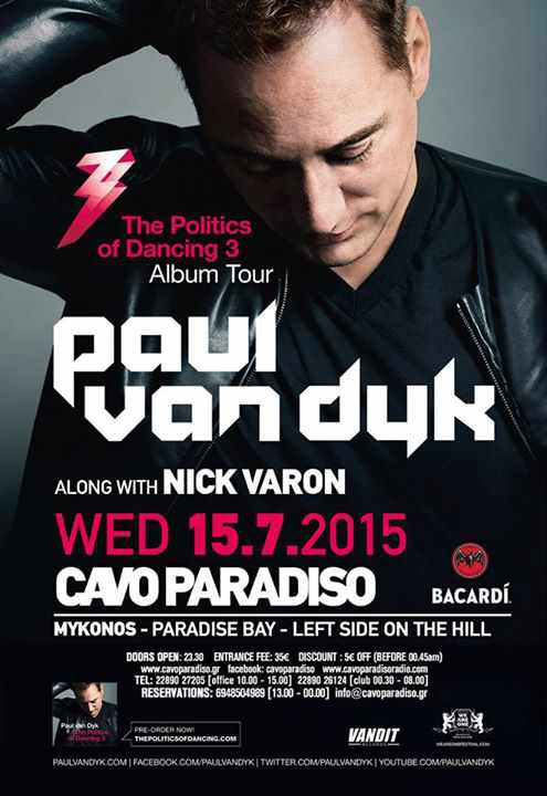 Paul van Dyk at Cavo Paradiso