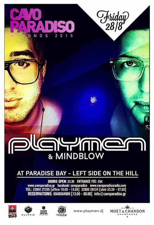 Playmen & Mindblow at Cavo Paradiso Mykonos