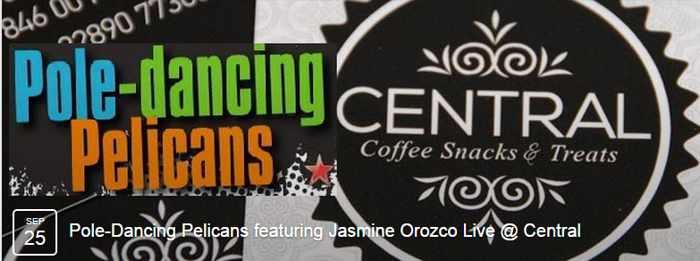Pole Dancing Pelicans and Jasmine Orozco at Central Coffee Mykonos