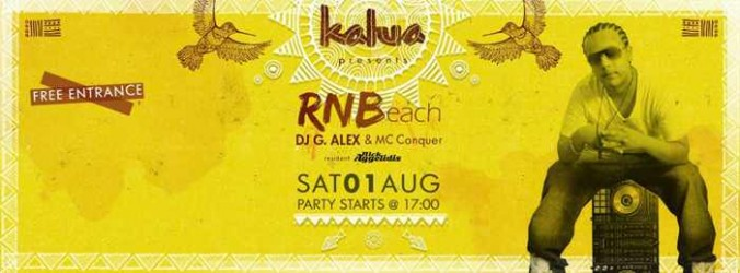 RNBeach party at Kalua Bar Mykonos