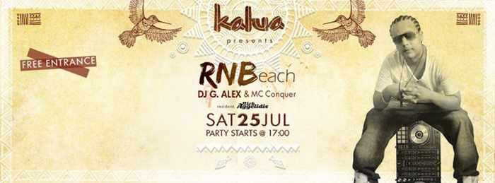 RNBeach party at Kalua bar Mykonos July 25 2015