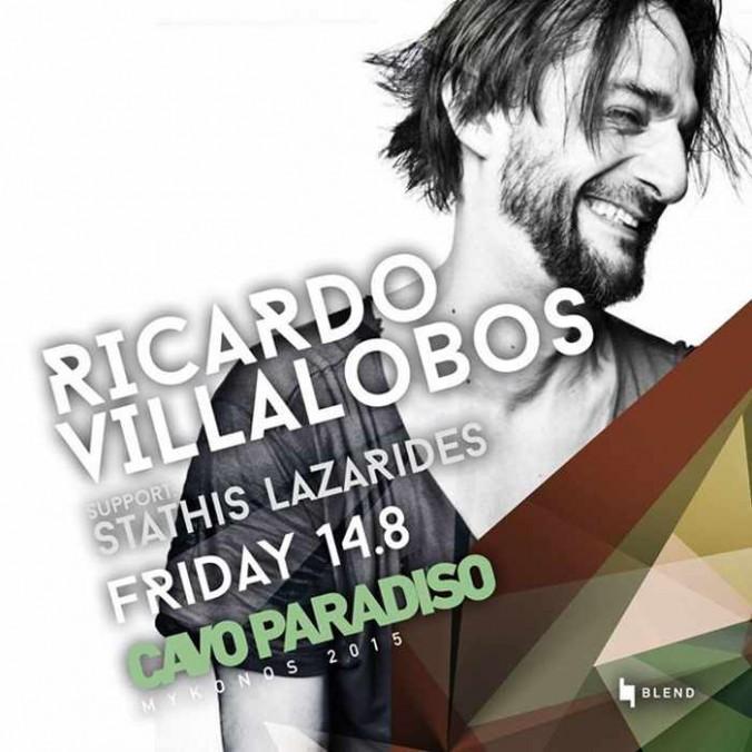 Ricardo Villalobos with Stathis Lazaridis at Cavo Paradiso Mykonos