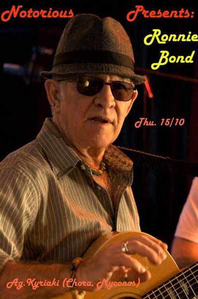 Ronnie Bond live rock show at Notorious Bar Mykonos