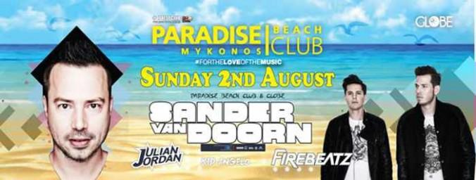 Sander van Doorn and Firebeatz appearance at Paradise Club