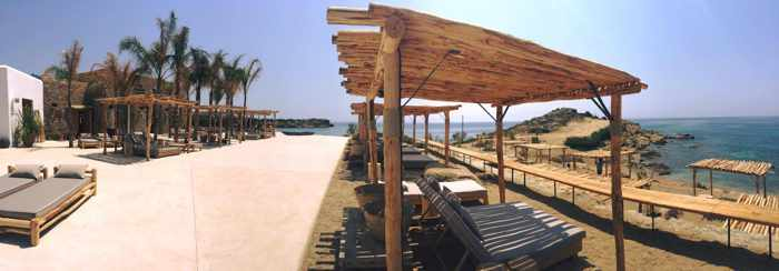 Scorpios beach restaurant and bar Mykonos photo shared on Facebook by Valeron the club's resident DJ